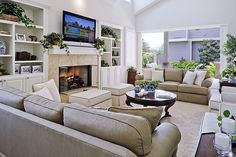 This luxurious and cozy living room is the perfect place for the family to spend quality time together.   Source: http://www.zillow.com/digs/Home-Stratosphere-boards/Luxury-Living-Rooms/