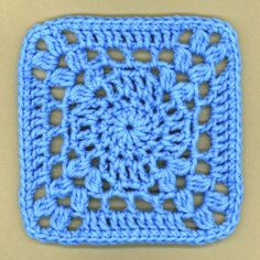 This True Blue Crochet Granny Square is a cinch to work up, and you can find tons of uses for it.