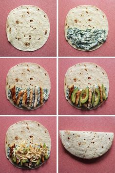 Spinach & Chicken Quesadilla - Low carb if you use a low carb tortilla.
