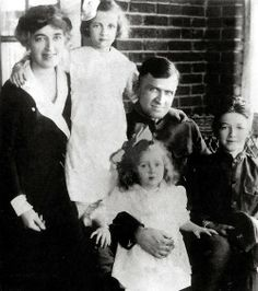 Jimmy Stewart with his parents, Elizabeth Ruth Stewart and Alexander Maitland Stewart, and his sisters, Virginia and Mary