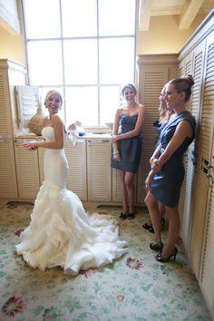 Ruffled mermaid wedding gown. LOVE this dress
