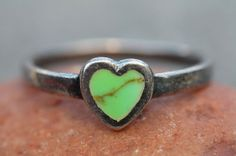 Vintage Sterling Silver Green Turquoise Heart by Yourgreatfinds, $24.99 turquois heart, vintag sterl, green turquois, sterl silver, shop yourgreatfind, sterling silver, yourgreatfind etsi, silver green, ariell birthday