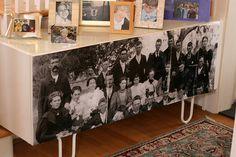 dcoupage photo to ikea furniture