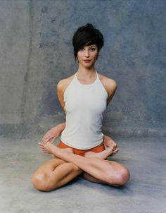 those who are willing to be vulnerable move among mysteries. • theodore roethke • christy turlington burns in baddha padmasana