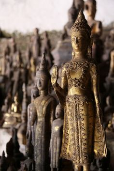 The Buddhas of Pak Ou Cave.