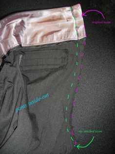 diy: how to take in pants at the waist. I took in 8 pants by the waist, legs or hemmed length this weekend and IT IS AWESOME! It's nice to have nice dress pants that fit and I didn't have to spend a dime for new pants. Just spend a couple hours altering my current pants but so worth it!