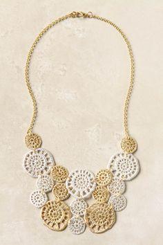 crochet look necklace