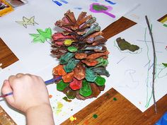 Paint a Pinecone - I could see kids making these for Christmas decorations.