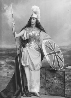 Lady Wolverton, née Edith Amelia Ward as Britannia