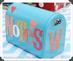 Teacher Creativity Blog Hop:  note mailbox