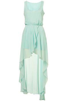 Chiffon light mint teal bridesmaid dress party dress by AFairyland, $80.00