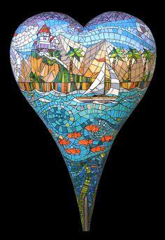 Catalina by Carol Towler, mosaic heart