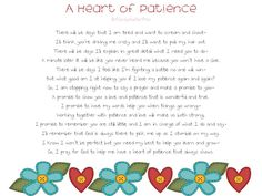 A Heart of Patience