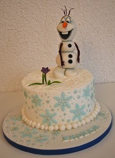Frozen - Olaf the snowman Cake by TortenGallery