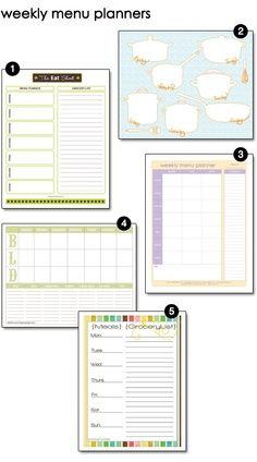 weekly menu planner printables free menu planning printable, weekly meal planner, weekly menu, menu planners, weekly planner, free printabl, free menu printables, week menu, week planner