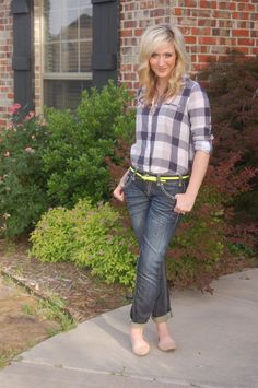 Rolled jeans and flats