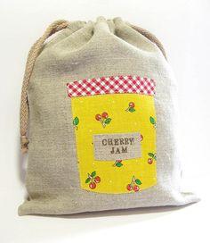 jam jar drawstring bag