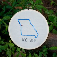 Kansas City Embroidery Wall Hanging by Kristen Paulson