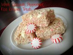 These look yummy!  White Chocolate Peppermint Rice Krispies Treats | Moms | GreeleyTribune.com