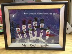 christmas presents, picture gifts, family portraits, family gifts, famili fingerprint, families, famili gift, first grade, christmas gifts