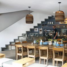 coffee shop idea- I like the community table... not in the middle of the shop but towards the back for work space/small groups?