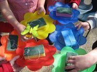 school crafts, butterflies, bird feeders, butterfli feeder, girl scout, flowers garden, toddler activities, teach idea, kid