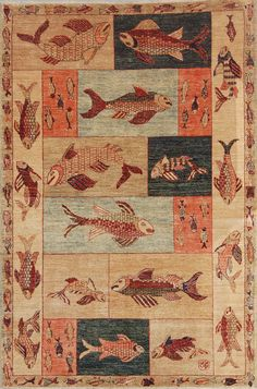 Fish rugs on pinterest rugs fishing and fish for Mackenzie childs fish rug