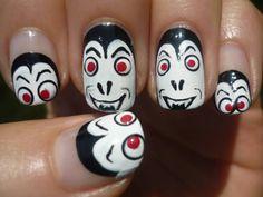 nail art tutorials, halloween vampir, nail arts, nail nailart, nail design, nail hair, vampir nail, nail idea, halloween nails