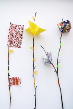 Craft idee craft, easter, paper flower, helsinki, children toys, baby toys, tape, flowers, feather