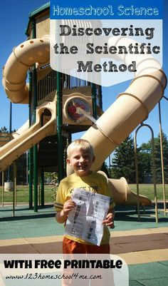Discovering the Scientific Method in the Park (with free printable) #homeschool #education #scienceisfun #preschool
