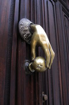 There was a lot of amazing door knobs in Spain.