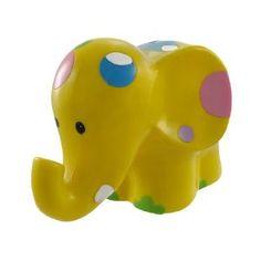 Adorable Yellow Polka Dot Elephant Money Bank Piggy