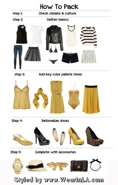 How to pack light...