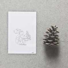 Postcard: Squirrel #nordicdesigncollective