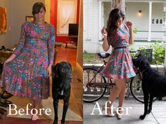 diy clothes reconstruction-totally can go to di and get ugly dresses with different types of fabric to revamp!!