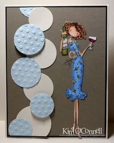 """Paper Perfect Designs by Kim O'Connell: Stamping Bella's """"Uptown Girl Opal the Optimist"""""""