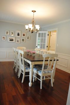 Kitchen table makeover, but chairs tops would be brown.