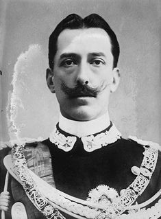 Prince Vittorio Emanuele of Savoy-Aosta, Infante of Spain, Count of Turin (1870 –1946) was a grandchild of King Victor Emmanuel II & a member of the House of Savoy. He was a cousin of Victor Emmanuel III. He was born in Turin just before his father Prince Amadeo of Savoy, Duke of Aosta was about to leave for Spain where he had been elected king. With his fathers ascension to the Spanish throne he gained the additional title Infante of Spain