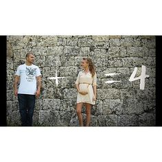 Clever pregnancy announcement! (Looks like twins...)