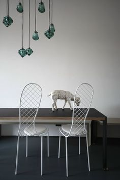 Apartment in Turin, Matryoshka project.  Family chairs by Junya Ishigami for Living Divani