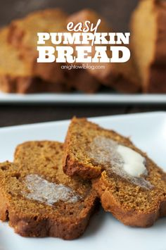 This pumpkin bread recipe is just so yummy and couldn't be easier to make! | anightowlblog.com