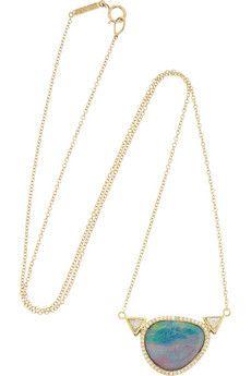 Jennifer Meyer 18-karat gold, opal and diamond necklace | NET-A-PORTER