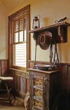 Western Home Decorating Ideas | wood paneling and window frame | Western Home Design Ideas