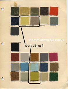 Original Mid-century modern color palettes.