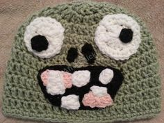 Ravelry: Plants vs. Zombies Zombie Character Beanie Hat Crochet Pattern pattern by Niki Wyre