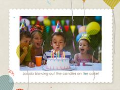 Birthday Balloons slideshow by Smilebox.  Let confetti and balloons fly as your happy birthday memories unfold. Choose your music, title and color scheme, and add up to 400 photos. Email or post with animation, or print.