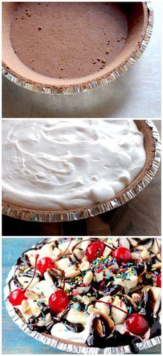 No-Bake Banana Split Pie