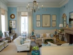 french country cottage chic living rooms - Bing Images