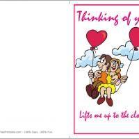 "How sweet is this ""thinking of you"" free printable. Be sure to give a ""like!"""