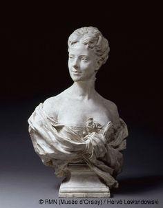 Jean-Baptiste Carpeaux (1827-1875)  Eugénie Fiocre  Circa 1869  Plaster bust